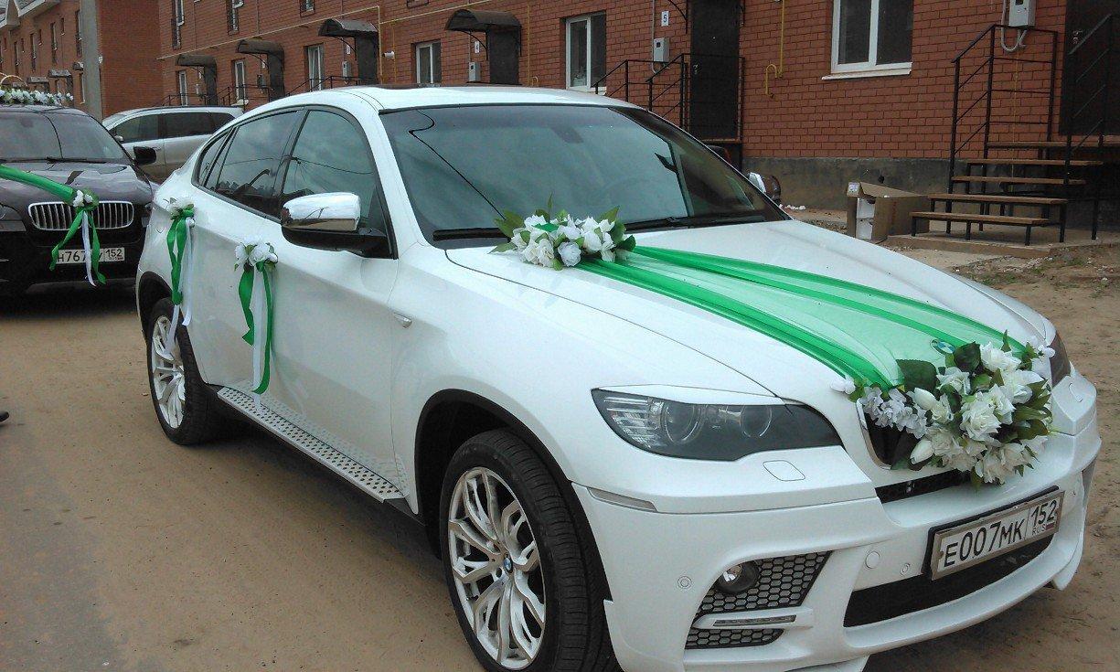 Украсить машину на свадьбу тканью 74
